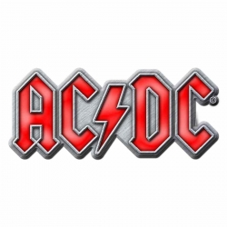 AC/DC Anstecker Red Logo