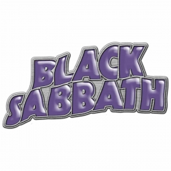 Black Sabbath Anstecker Purple Logo