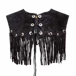 Schwarze Damenweste aus Leder