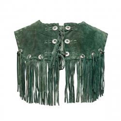 Grüne Lederweste - Einzelstück