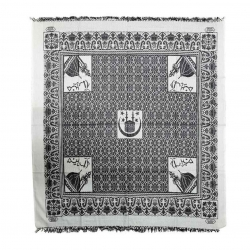 Original Medina Kufiya Scarf- Black White