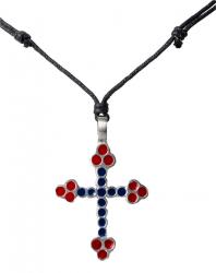 Kette mit zweifarbigem Kreuzanhänger