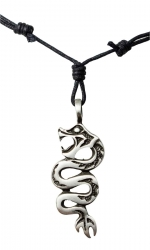 Necklace with snake pendant