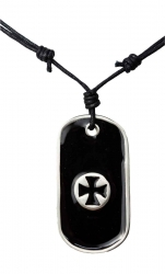 Necklace with dog tag pendant