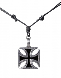 Necklace with big cross pendant