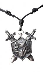 Kette mit Wappen Anhänger