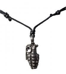 Necklace with granate pendant
