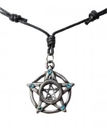 Pentagram Necklace with blue stones