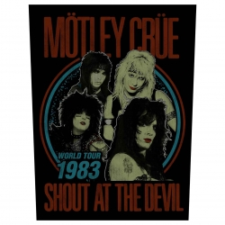 Mötley Crüe Rückenaufnäher Shout at the devil
