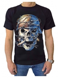 T-Shirt Gepiercter Totenkopf (Glow in the dark)