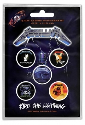 Metallica Ride The Lightning Button Set