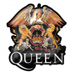 Queen Crest Metal Pin