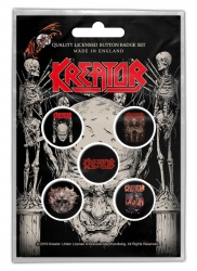 Kreator Button Set - Skull & Skeletons