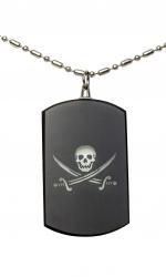 Kette mit Anhänger Piraten Flagge