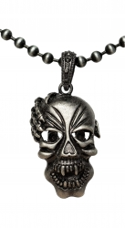 Ball Chain Necklace with skull
