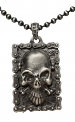 Ball Chain Necklace with Skull pendant