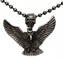 Ball Chain Necklace with eagle pendant