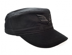 Black Military Cap - U.S. Airforce