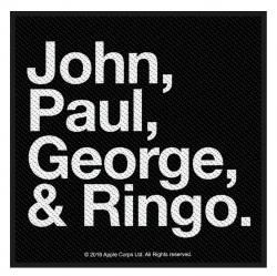 The Beatles Aufnäher John, Paul, George & Ringo