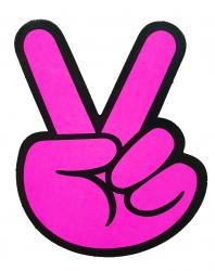 Aufkleber - Peace - Farbwahl