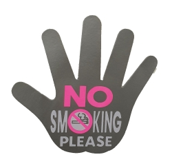 Aufkleber - No Smoking - Silber