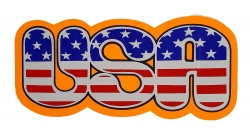 Aufkleber - USA Schriftzug - Orange