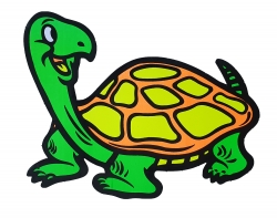 Aufkleber - Happy Turtle- Grün