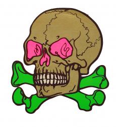 Aufkleber - Großer Totenkopf