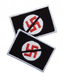 Aufnäher Anti Nazi - 2er Pack