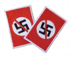 Anti Nazi Aufnäher - 2er Pack