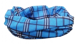 Multifunctional Scarf blue checkked