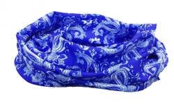 Multifunctional Scarf blue paisley