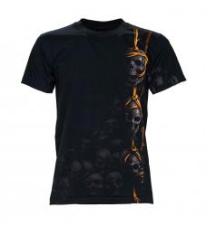Biker T-Shirt Hanging Skulls