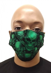 Gesichtsmaske Neon Totenköpfe