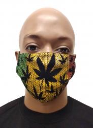 Gesichtsmaske Cannabis Rastafari