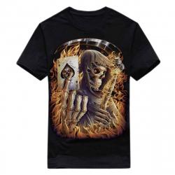 T-Shirt Skull Gambler (Glow in the Dark)