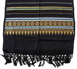 Schal mit Stickerei und Fransen