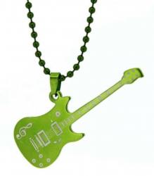 Gitarre Anhänger Rock Grün