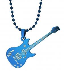 Halskette Gitarre Cyan