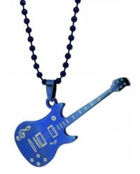 Rock E-Gitarre Halskette Blau