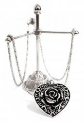 Herz Rose Anhänger Halskette