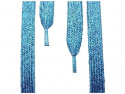 Glitzerschnürsenkel Türkis-Blau