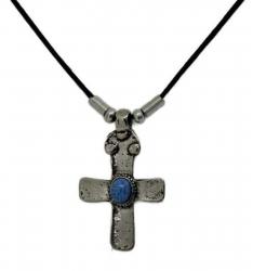 Anhänger Kleines Kreuz mit türkisem Stein  Halskette