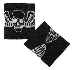 Schweißband Schwarz Totenkopf