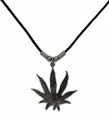 Anhänger Kleines Hanfblatt  Halskette