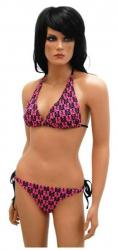 Bikini mit Totenköpfen Pink