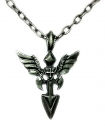 Halskette Speer mit Flügel Anhänger