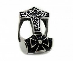 Ring Thors Hammer in Edelstahl