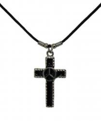 Anhänger Kreuz mit Peace  Halskette