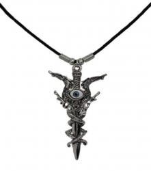 Halskette mit Schwert und Schlangen Anhänger